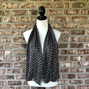 "Echo Square Chain Print Rectangle Scarf 11"" x 52"""